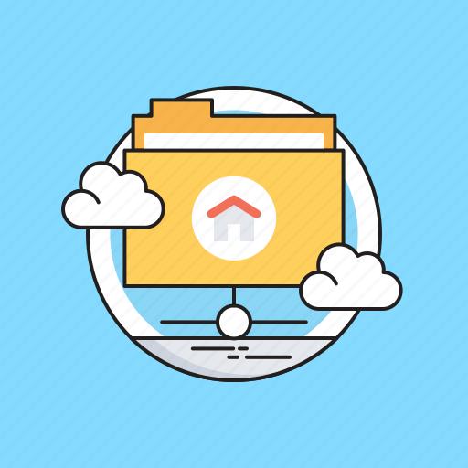 Cloud computing, folder, hosting, server, share folder icon - Download on Iconfinder