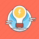 bulb, electric bulb, idea, light, solution icon