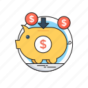 cash bank, money bank, money box, piggy bank, saving icon