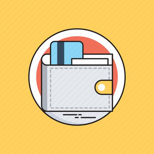 billfold wallet, card holder, credit card, purse, wallet icon
