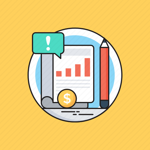 Business, financial statement, graph report, pencil, statement icon - Download on Iconfinder