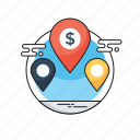 bank location, branches, map pin, our offices, worldwide location icon