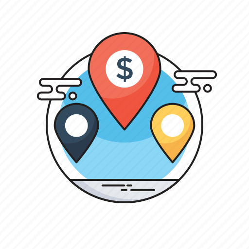Bank location, branches, map pin, our offices, worldwide location icon - Download on Iconfinder