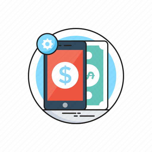 App, banking, chat bubble, m commerce, mobile banking icon - Download on Iconfinder