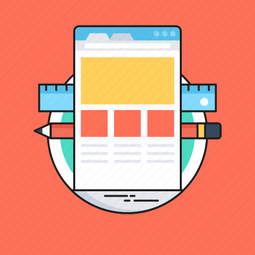 css, designing, frontend, web design, web layout icon