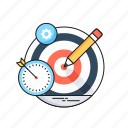 bullseye, define the goal, goal, hit, target icon