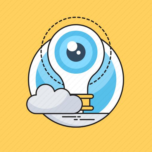 Bulb, observation, observe, view, vision icon - Download on Iconfinder