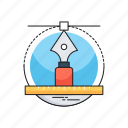 designing, draft tools, illustration, pen tool, vectors icon