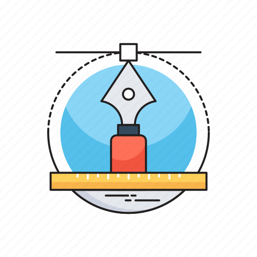 designing, draft tools, illustration, pen tool, vectors icon