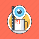 creation, creative idea, creativity, idea, magnifier icon