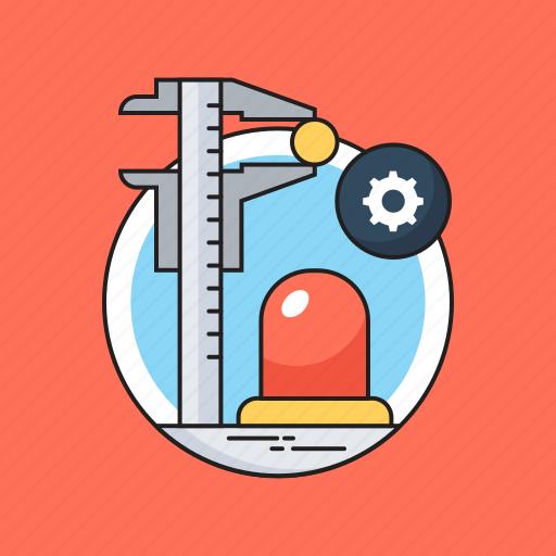 Caliper, cogwheel, invent, invention, sirane icon - Download on Iconfinder