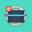 bag, briefcase, case, pencil, portfolio icon