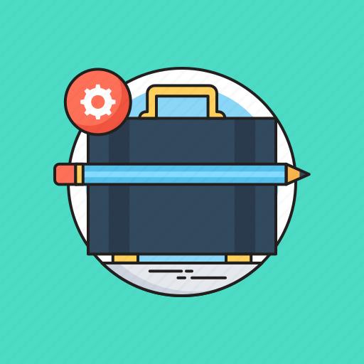 bag, briefcase, case, pencil, portfolio icon