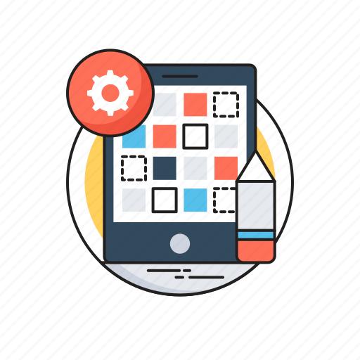 App development, development, mobile layout, mobile menu, mobile screen icon - Download on Iconfinder