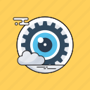 cloud, creative process, observ, view, vision icon