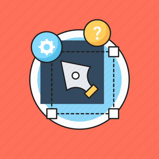 bezier, design and development, graphic designing, pen tool, web designing icon