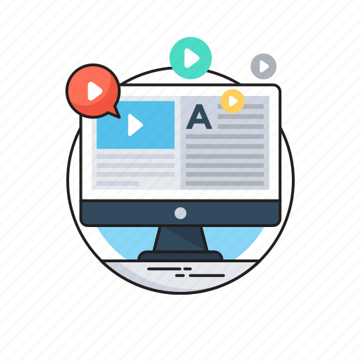 lecture, multimedia, online tutorials, presentation, tutorials icon