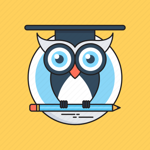 Graduate owl, graduation, owl degree, owl sage, wisdom icon - Download on Iconfinder