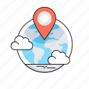 find place, global, local seo, location, map pin icon