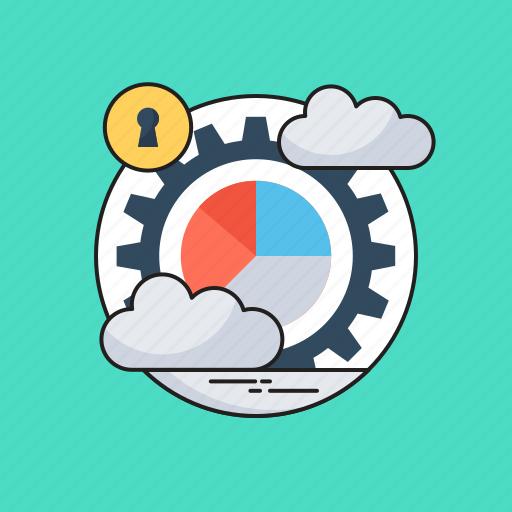 analytics, data analysis, data management, data processing, pie graph icon