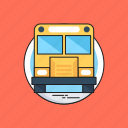 bus, school bus, transport, travel, vehicle icon