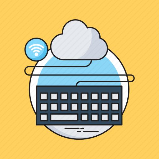 Cloud computing, cloud storage, icloud, keyboard, network icon - Download on Iconfinder