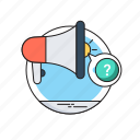 advertisement, bullhorn, campaign, megaphone, promotion icon