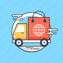 cargo, courier, delivery, logistics, shipping icon