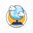 geography, globe, map, table globe, world map icon