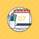back to school, calendar, education, school, stationery icon