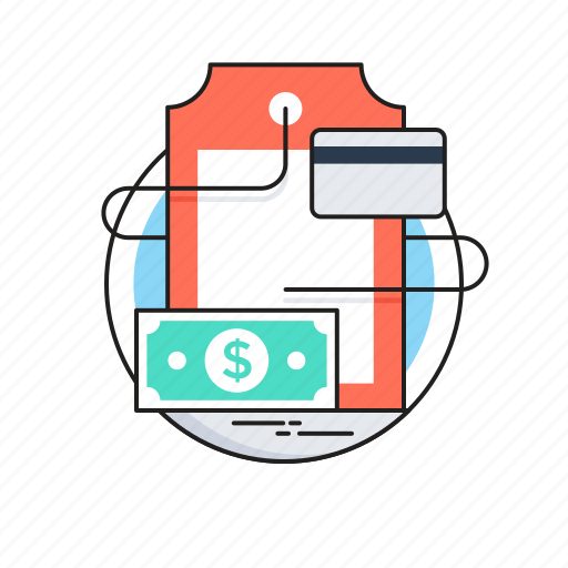 banknote, credit card, ecommerce, online shopping, tag icon