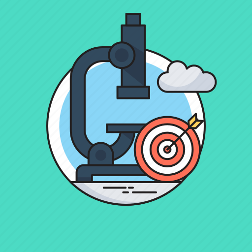 Analysis, market research, microscope, research, target icon - Download on Iconfinder