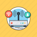broadband, internet, modem, router, wifi modem icon