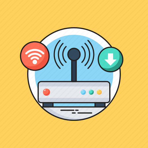 Broadband, internet, modem, router, wifi modem icon - Download on Iconfinder