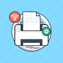 facsimile, fax, office supplies, printer, printing machine icon
