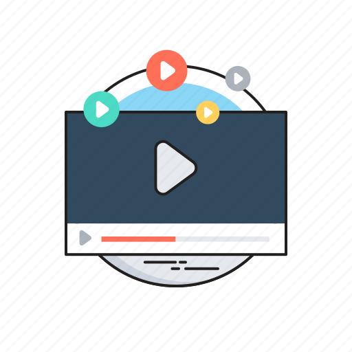 marketing, media, multimedia, promotion, video marketing icon