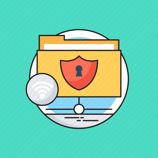 Data protection, data security, folder, networking, server storage icon - Download on Iconfinder
