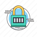 access, digital lock, locked, padlock, security icon