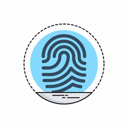 Biometric, data, identity, scanning, thumbprint icon - Download on Iconfinder