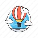 air balloon, clouds, discover, hot air balloon, sky