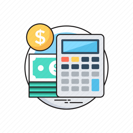 accounting, banknotes, budget, calculator, dollar icon