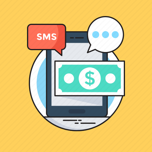 banknote, mobile, mobile banking, sms, sms banking icon