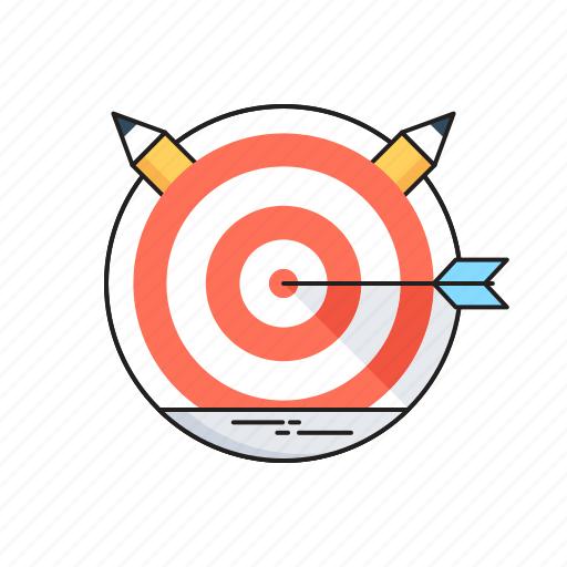Bullseye, dartboard, goal, mission, targeting icon - Download on Iconfinder