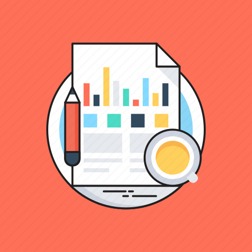 analytics, business report, financial statement, graph, report icon
