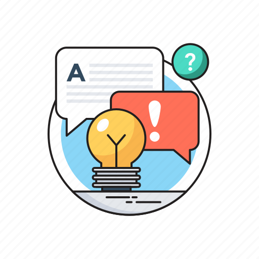 Bulb, chat bubble, consulting, contact us, services icon - Download on Iconfinder