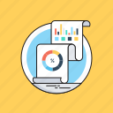 analytics, graph report, report, statistics, visual data icon