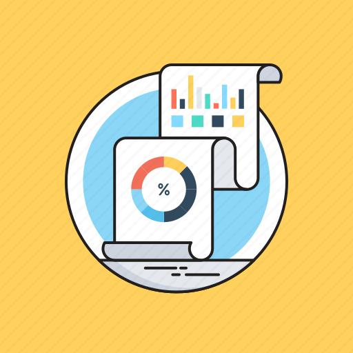 analytics, graph report, report, statistics, visual data icon