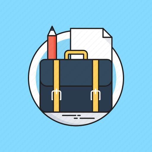 bag, case, document, pencil, portfolio icon