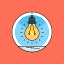 bulb, bulb on, idea, light, light bulb icon