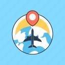 airplane, business tour, business travel, globe, trip